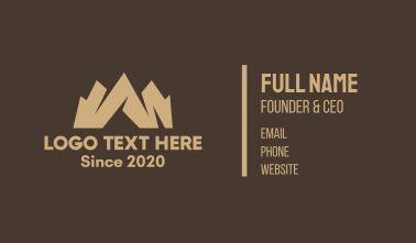 Brown Mountain Valley Business Card