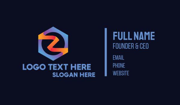 comics - Superhero Letter Z Business card horizontal design