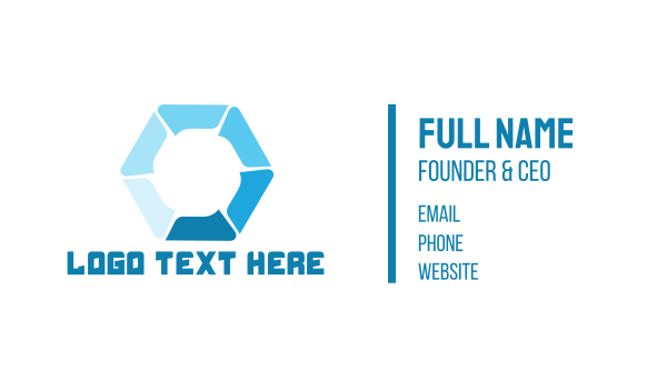 fluid - Hydraulic Hexagon Business card horizontal design