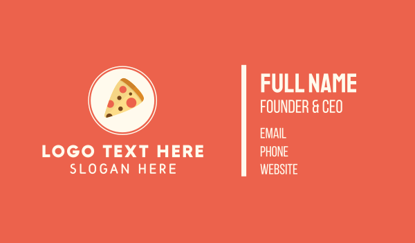 pie - Pizza Restaurant Business card horizontal design