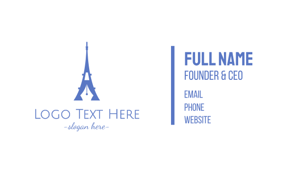 travel agent - French Blogger Business card horizontal design