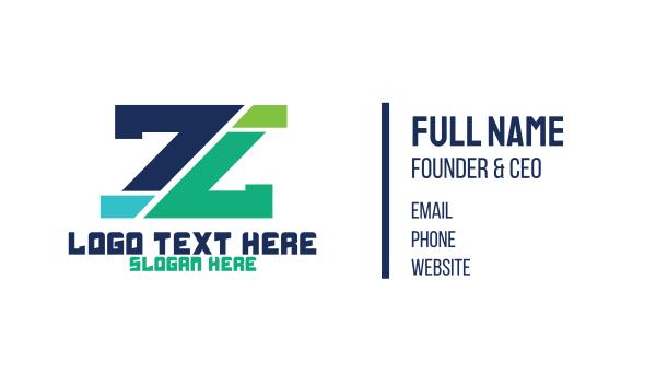 lending - Modern Edgy Letter Z Business card horizontal design