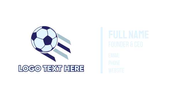 physical fitness - Soccer Ball Business card horizontal design