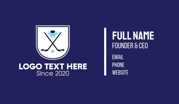 ice - Ice Hockey Team Banner Business card horizontal design