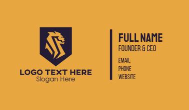 Golden Lion Shield Business Card