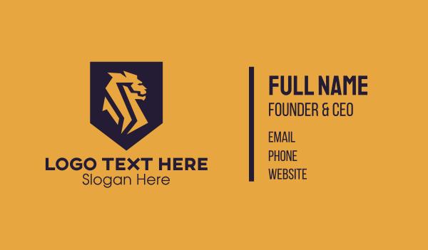 singapore - Golden Lion Shield Business card horizontal design