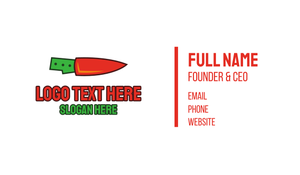 chili pepper - Carrot Knife Business card horizontal design