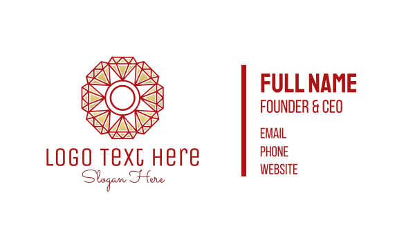 morocco - Diamond Flower Business card horizontal design