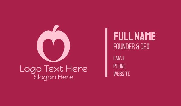 juice stall - Love Apple Business card horizontal design