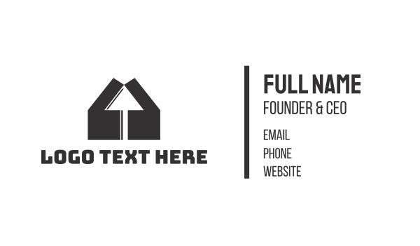 up - House Click Business card horizontal design