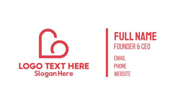 lingerie - Heart Cloud Business card horizontal design
