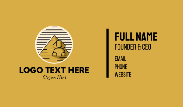 explore - Egyptian Pyramid Sphinx Business card horizontal design