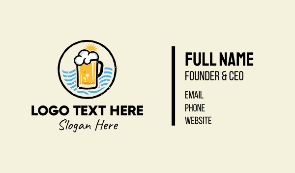 draught beer - Summer Beer Business card horizontal design