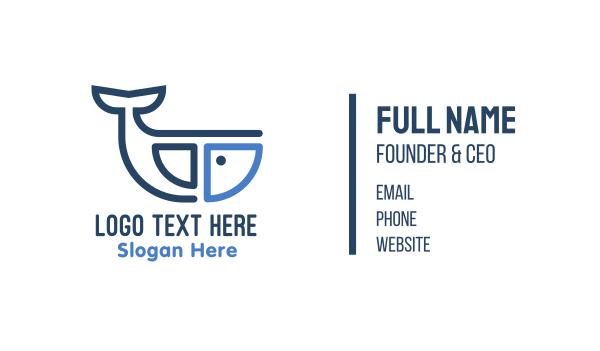 fisheries - Whale Furnishing Business card horizontal design