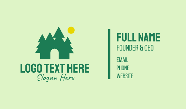 pine forest - Nature Park Outdoor Business card horizontal design