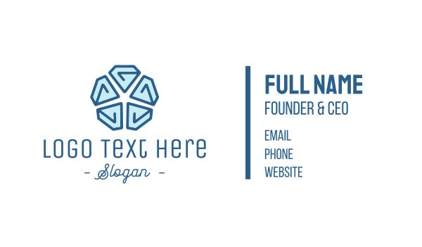 blue diamond - Diamond Star Business card horizontal design
