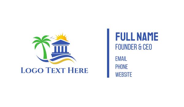 courthouse - Beach Pantheon Business card horizontal design