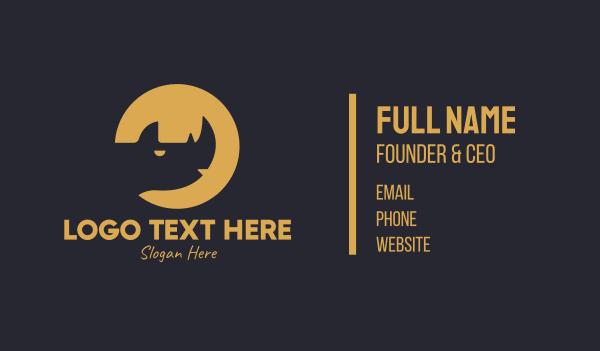 safari park - Rhino Animal Wildlife  Business card horizontal design