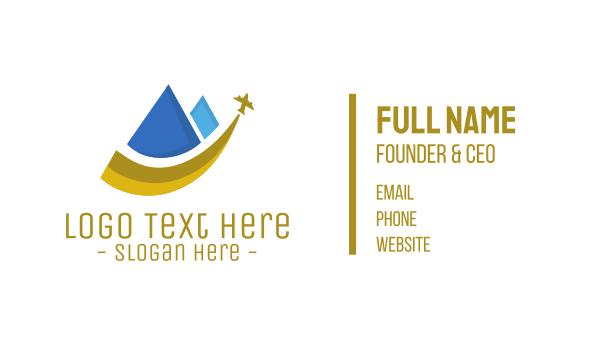 pyramid - Pyramid Travel Business card horizontal design