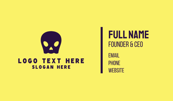 skeletal - Ghost Skull Business card horizontal design