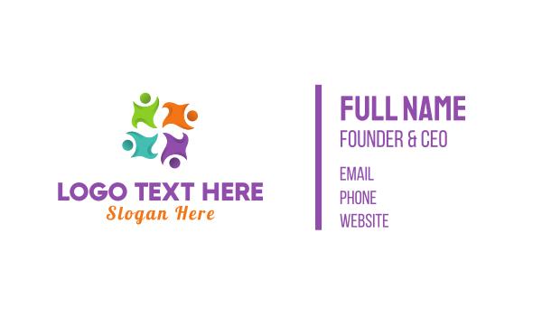 foundations - Preschool Team Business card horizontal design