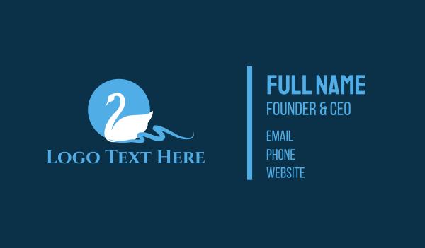lake - White Swan Business card horizontal design