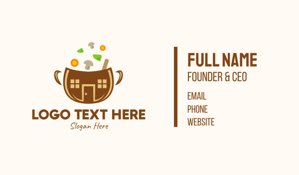 ingredients - Vegetable Soup Bowl Business card horizontal design