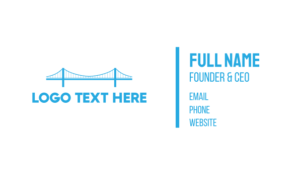 san francisco - Blue Anchored Bridge  Business card horizontal design