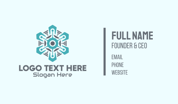 refrigerator - Tech Snowflake Business card horizontal design