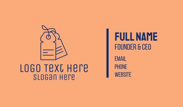 coupon - Minimalist Clothes Tag  Business card horizontal design