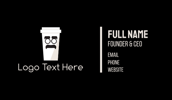 Coffee Cup Cartoon Business Card
