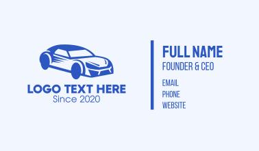 Blue Coupe Car Business Card