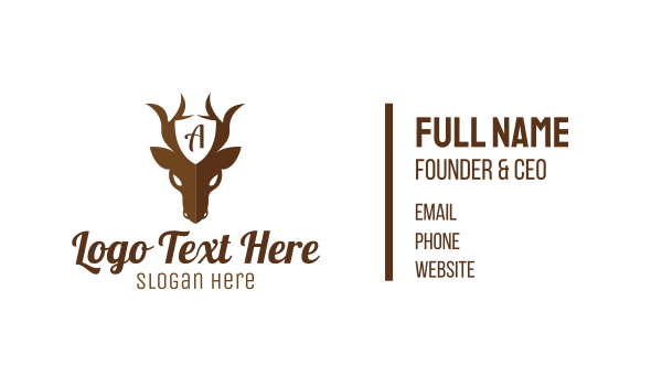 cop - Guard Deer Business card horizontal design