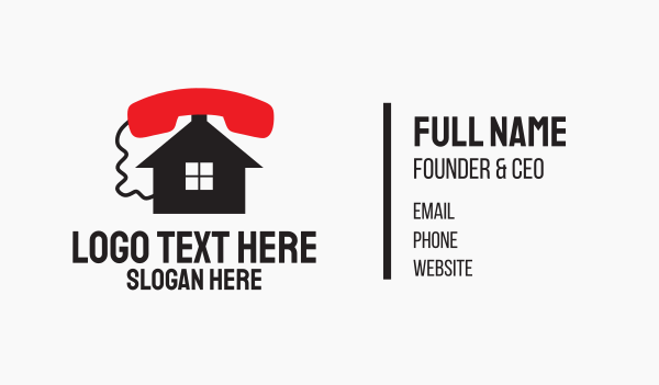 leasing - Phone Home Service Business card horizontal design
