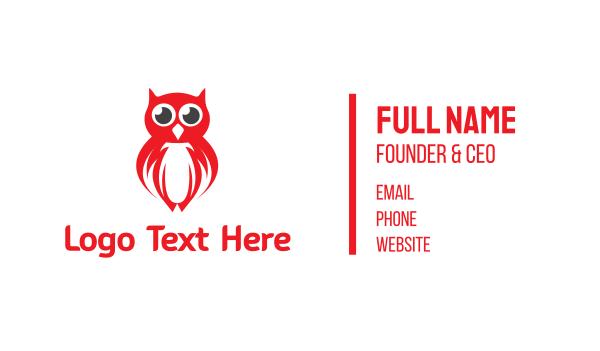 night watch - Red Owl Gaming Business card horizontal design
