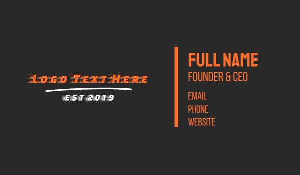 limo - Fast Racing Font Business card horizontal design