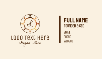 Racial Unity Lettermark  Business Card