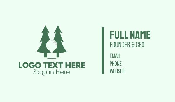 putter - Forest Golf Business card horizontal design