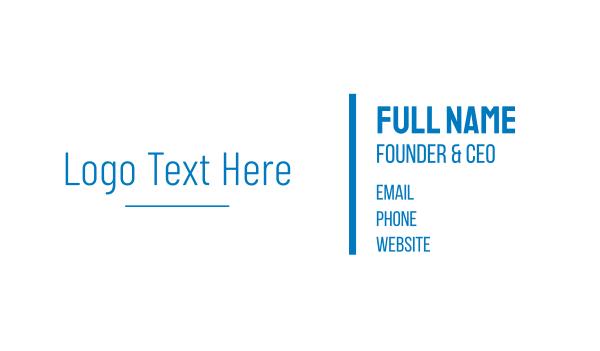 high technology - Simple High Tech Wordmark Business card horizontal design