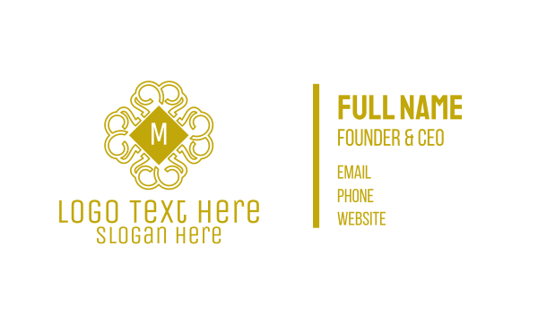 edgy - Luxurious Pattern Lettermark Business card horizontal design