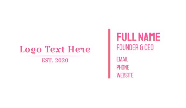beauty store - Boutique Wordmark Business card horizontal design