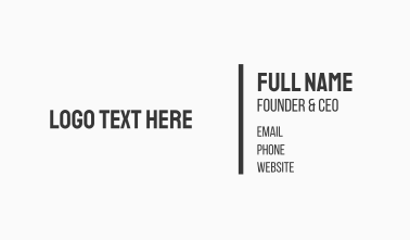 Strong Bold Text Business Card