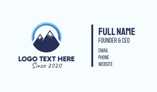 alpine - Blue Mountain Peak Business card horizontal design