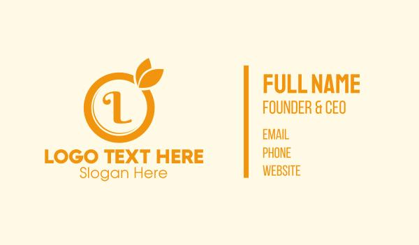 Orange Fruit Lettermark Business Card