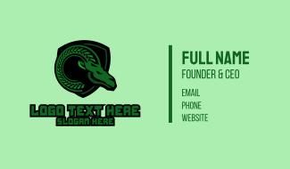 Green Ram Mascot Business Card