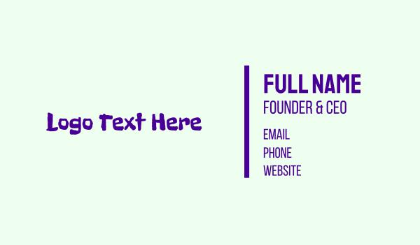 funny - Purple Crayon Business card horizontal design