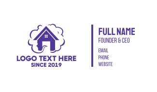 Purple House Smoke Business Card