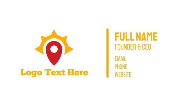 place - Sun Pin Business card horizontal design