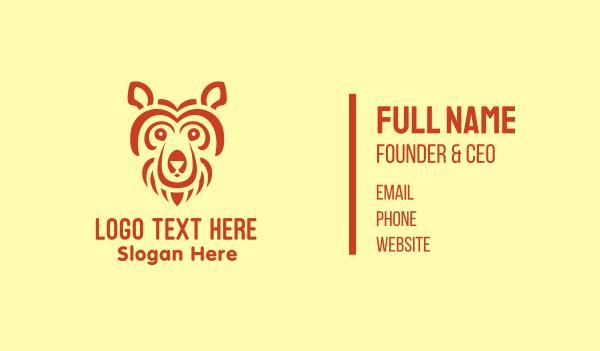 hunting - Abstract Bear Head Business card horizontal design