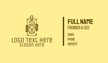 Craft Beer Bottle  Business Card